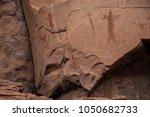 native american indian ruins... | Shutterstock . vector #1050682733