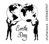 happy earth day poster  card... | Shutterstock .eps vector #1050682907