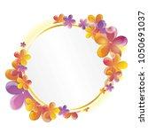 bright spring flowers greeting... | Shutterstock .eps vector #1050691037