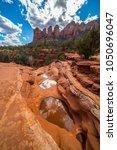 seven sacred pools sedona... | Shutterstock . vector #1050696047