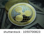 cryptocurrency coin   ripple... | Shutterstock . vector #1050700823