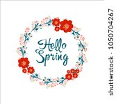hello spring greeting card.... | Shutterstock .eps vector #1050704267
