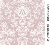 seamless pink lace background... | Shutterstock .eps vector #1050721007