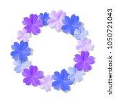 paper flowers isolated on white ... | Shutterstock .eps vector #1050721043