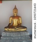 Small photo of Sitting golden Buddhas in Bangkok the capital of Thailand
