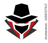 mysterious computer hacker icon.... | Shutterstock .eps vector #1050727517
