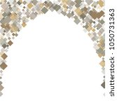 rhombus white minimal geometric ... | Shutterstock .eps vector #1050731363