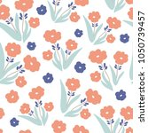 floral seamless pattern with... | Shutterstock .eps vector #1050739457