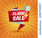 flash sale banner template... | Shutterstock .eps vector #1050754907
