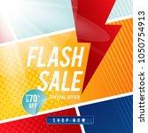 flash sale banner template... | Shutterstock .eps vector #1050754913