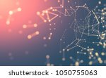 abstract polygonal space low...   Shutterstock . vector #1050755063