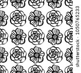 botanical seamless pattern with ... | Shutterstock .eps vector #1050765233