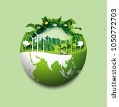 green earth of eco friendly... | Shutterstock .eps vector #1050772703