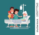 family health care and people... | Shutterstock .eps vector #1050777563