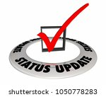 status update check mark box... | Shutterstock . vector #1050778283