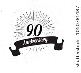 retro anniversary design  ... | Shutterstock .eps vector #1050781487