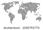 global world atlas collage... | Shutterstock . vector #1050792773