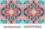 seamless vector tile pattern.... | Shutterstock .eps vector #1050793583