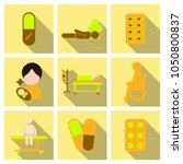 medicine  pharmacy  hospital... | Shutterstock .eps vector #1050800837