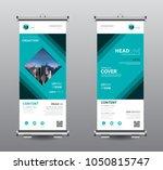 roll up banner standee business ... | Shutterstock .eps vector #1050815747