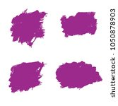 set of hand painted purple... | Shutterstock .eps vector #1050878903
