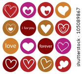hearts shapes background in... | Shutterstock .eps vector #105089867