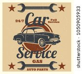 vintage car service logo   auto ... | Shutterstock .eps vector #1050905933