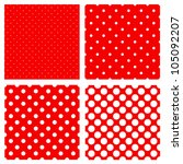 White Polka Dots Pattern On Re...