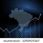 the brazilian economy and... | Shutterstock .eps vector #1050925367