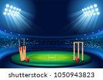 cricket stadium background.... | Shutterstock .eps vector #1050943823
