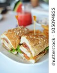 Club Sandwich Chicken Burger...