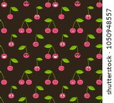 pattern with cherries with... | Shutterstock .eps vector #1050948557