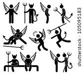 devil angel friend enemy icon... | Shutterstock . vector #105095183