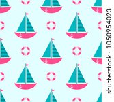 background with boats | Shutterstock .eps vector #1050954023
