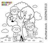 children playing and climbing... | Shutterstock . vector #1050965513