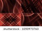collection of crimson... | Shutterstock . vector #1050973763
