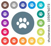 paw prints flat white icons on... | Shutterstock .eps vector #1050976073