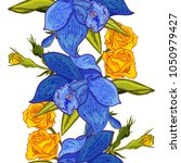 vector seamless flower pattern... | Shutterstock .eps vector #1050979427