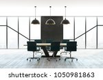 modern boardroom interior with... | Shutterstock . vector #1050981863