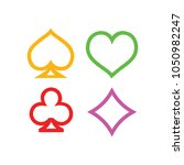 vector playing cards symbols ...   Shutterstock .eps vector #1050982247