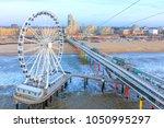 the ferris wheel   the pier at... | Shutterstock . vector #1050995297