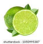 limes isolated on white... | Shutterstock . vector #1050995387