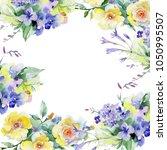 bouquet flower frame in a... | Shutterstock . vector #1050995507