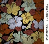 cute vector floral background.... | Shutterstock .eps vector #1050995567
