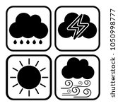 weather icon show rainy thunder ...