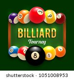 billiards tournament poster... | Shutterstock .eps vector #1051008953