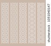 seamless line borders patterns... | Shutterstock .eps vector #1051040147