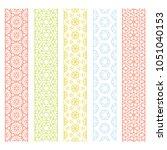 seamless line borders patterns... | Shutterstock .eps vector #1051040153
