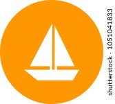 sailing boat icon   Shutterstock .eps vector #1051041833
