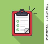 clipboard with checklist icon.... | Shutterstock .eps vector #1051045517